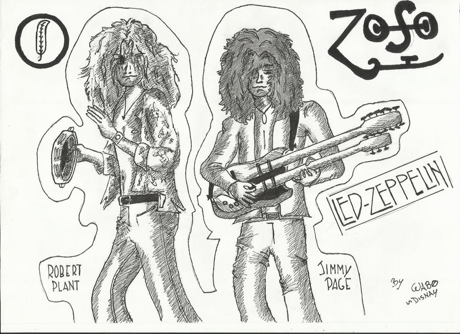 Page and Plant  Led Zeppelin by wabodisnay