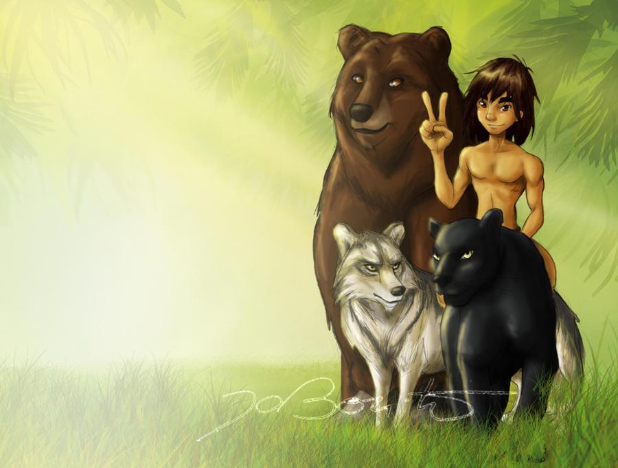 Mowgli and friends