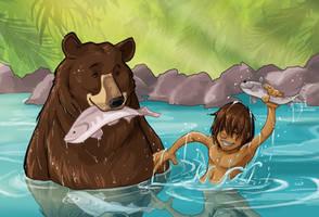 Mowgli and Balu by JoBonito
