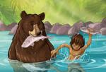 Mowgli and Balu