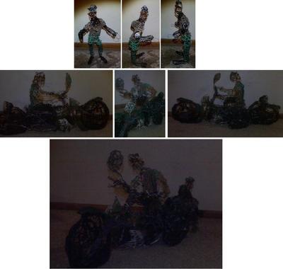 Harley-Davidson XA Motorcycle W Sidecar And Vets by Eaglehawk4