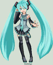 Hatsune Miku by Gummy-Monster