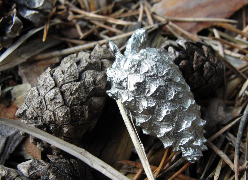Pewter Fir Cones by Psydrache