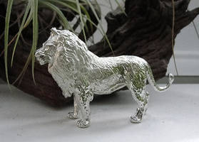 Pewter Lion by Psydrache