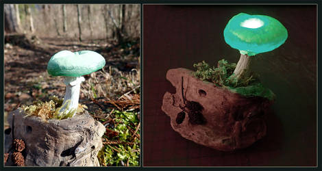 LED Mushroom Light by Psydrache