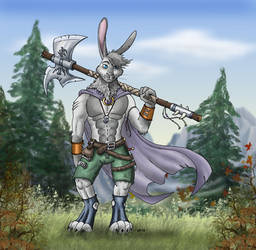 Carduus Hare Warrior by Psydrache