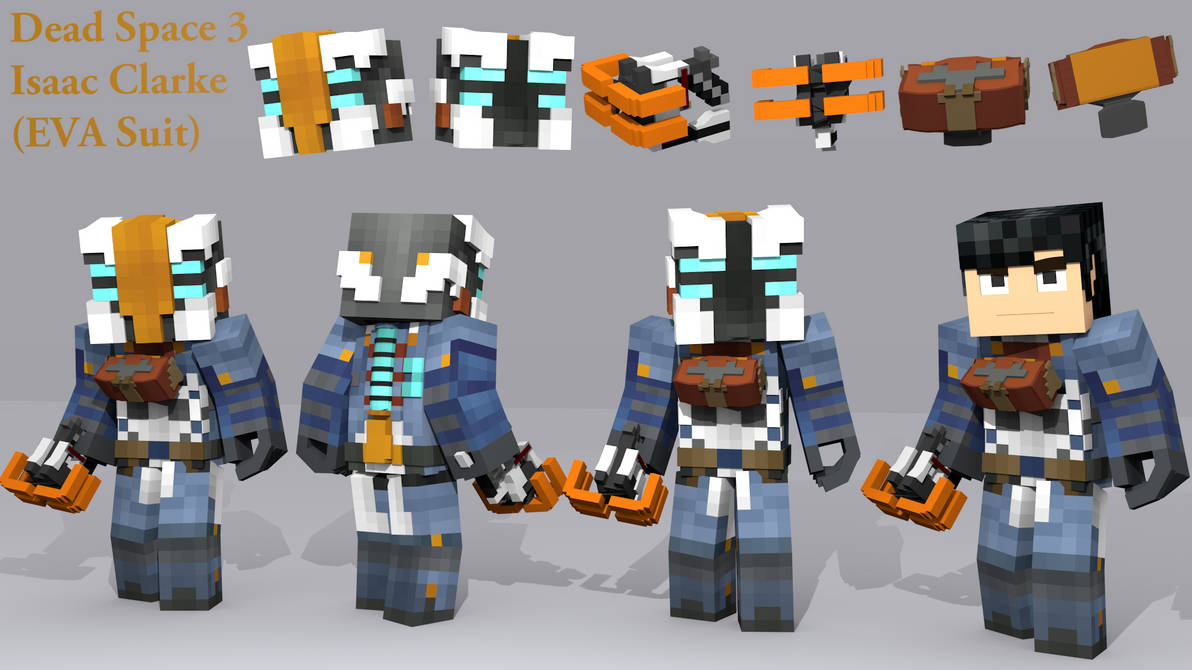 Dead Space 3 Isaac Clarke Eva Suit Minecraft By Kristian08