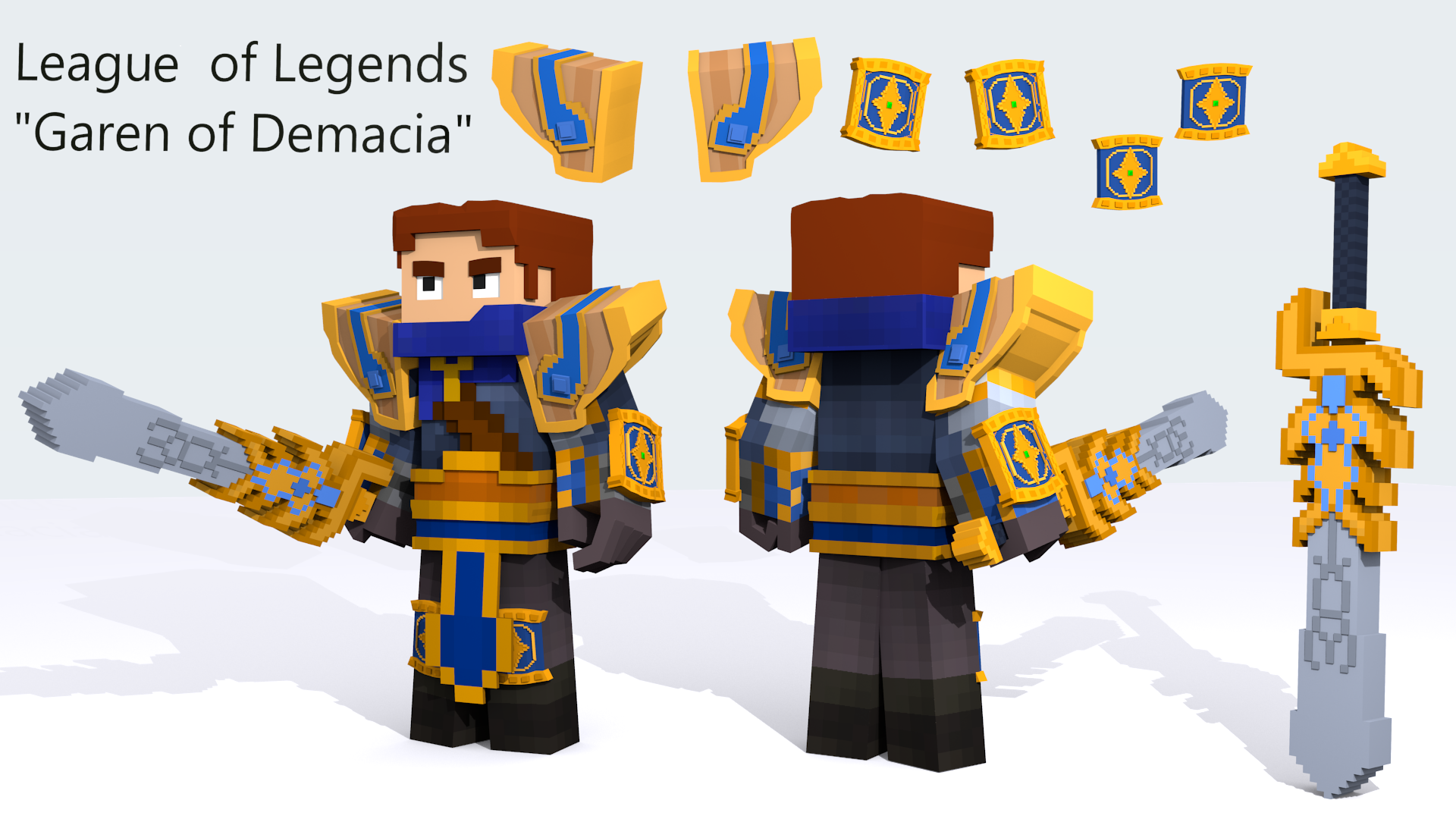 League of legends garen of demacia minecraft by kristian08 captain