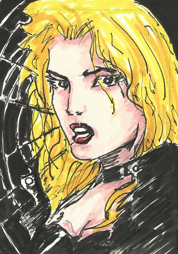 Black Canary Sketch Card by Graymalkin2112