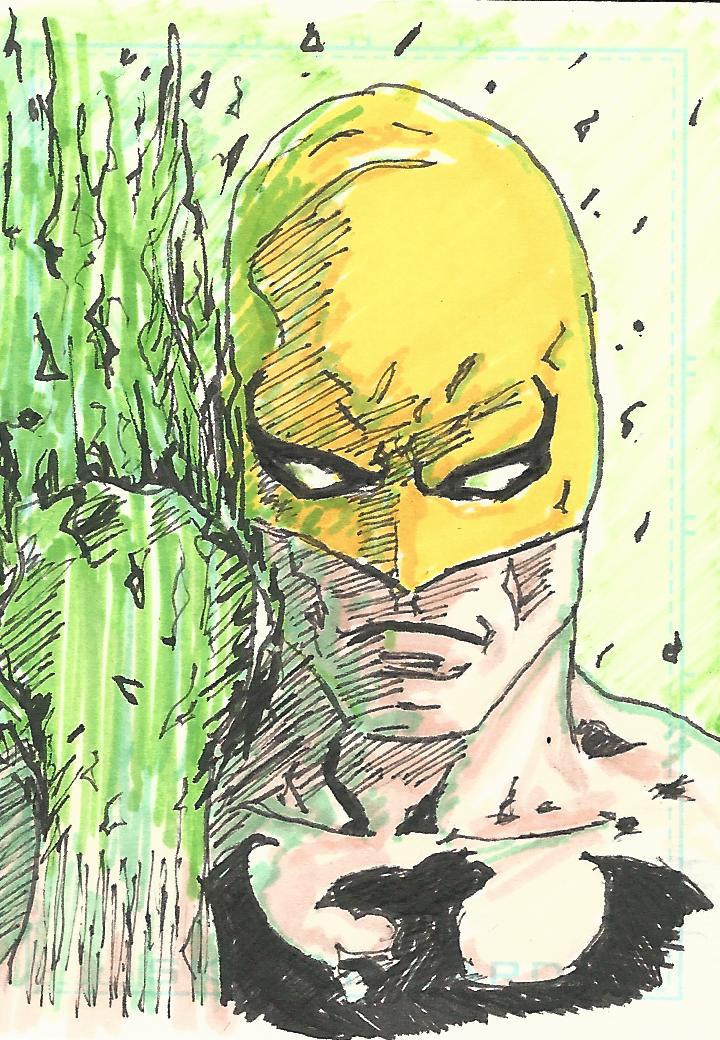 Iron Fist Sketch Card by Graymalkin2112