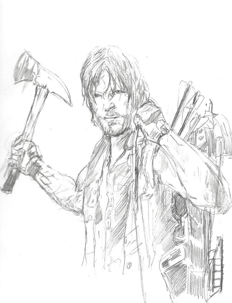 Daryl the Walking Dead by Graymalkin2112