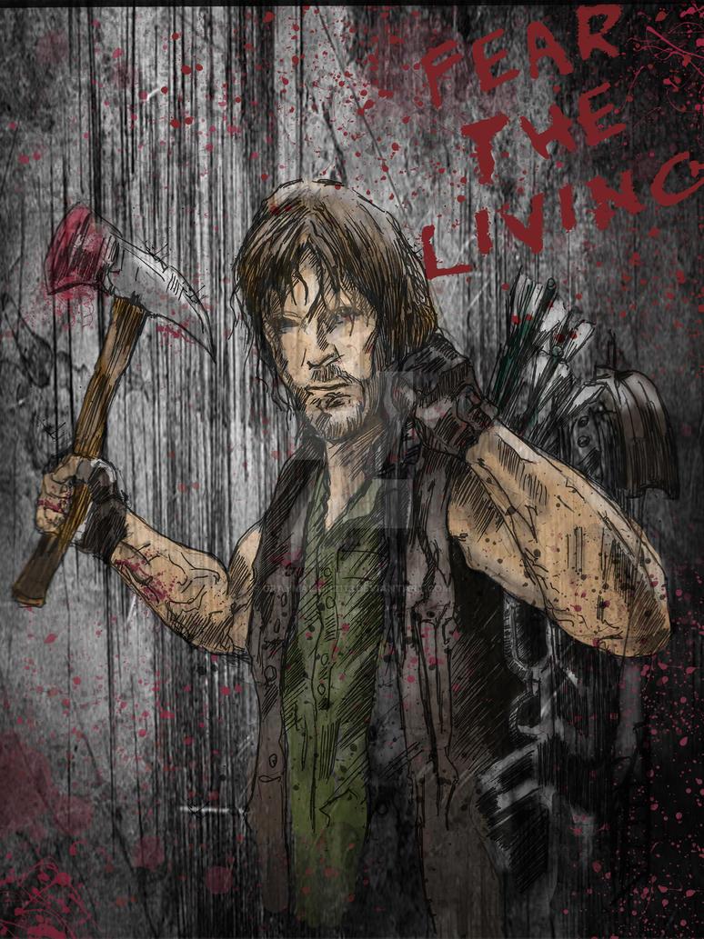 Walking Dead: Daryl Fear the Living by Graymalkin2112