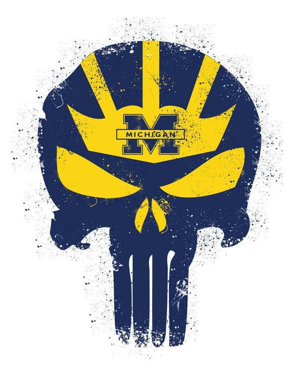 Michigan Punisher Skull by Graymalkin2112