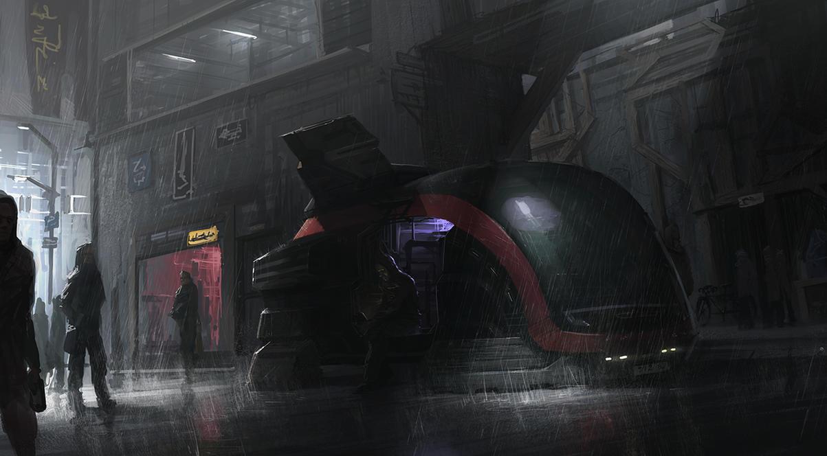 Raining city by MatiasMurad