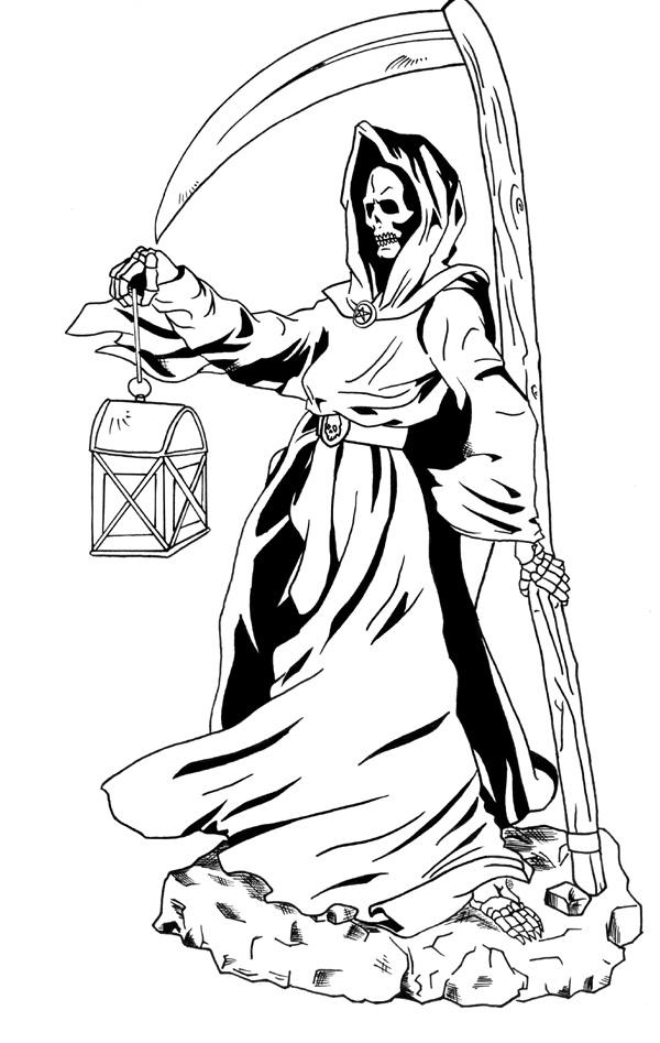 The grim reaper and his lamp by masterpitzy on deviantart the grim reaper and his lamp by masterpitzy voltagebd Images