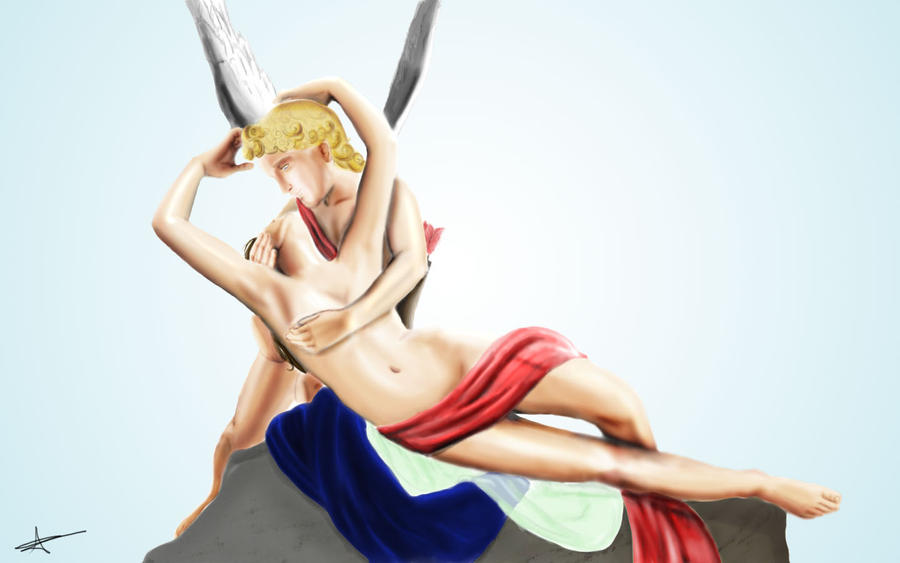 Souvenirs of France Psyche Revived by Cupids Kiss