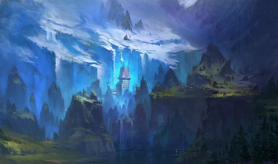 glacier valley by dimarinski