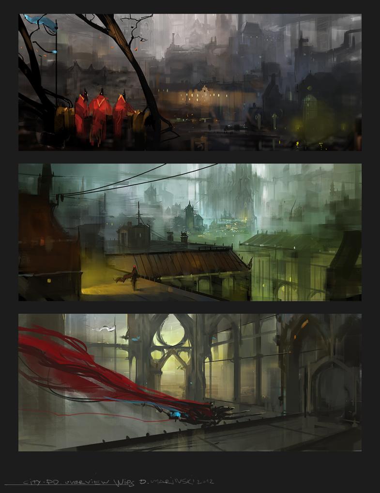 city sketches by dimarinski