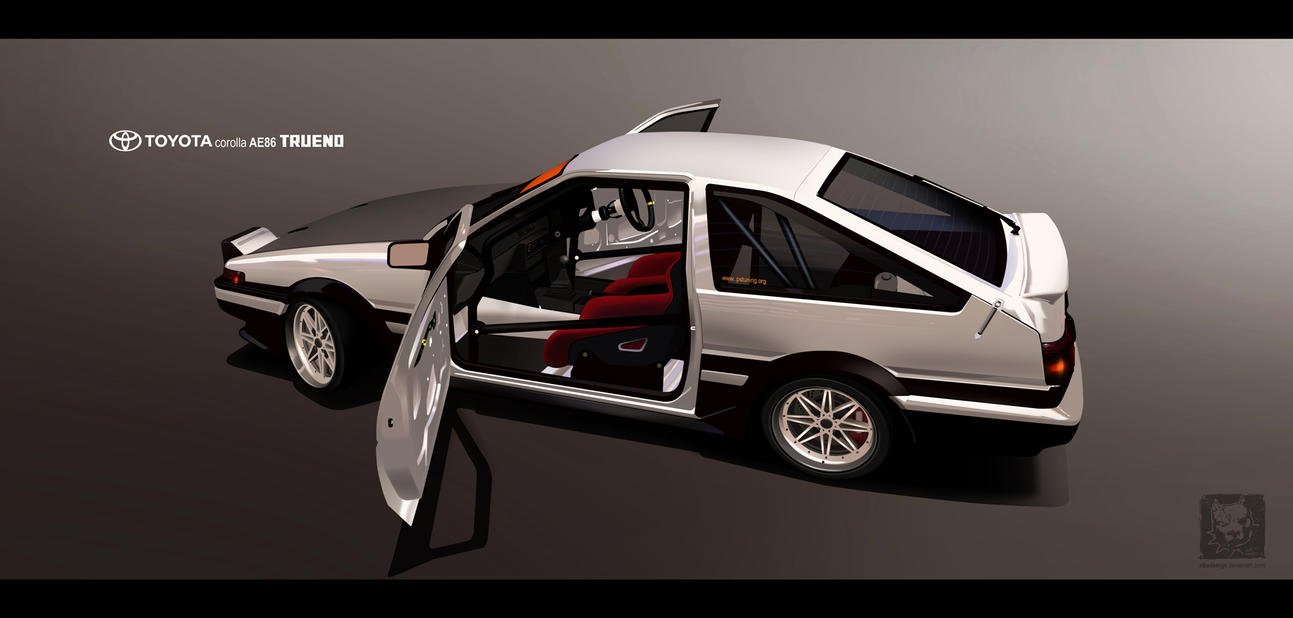 Toyota sprinter ae86 TRUENO by RibaDesign