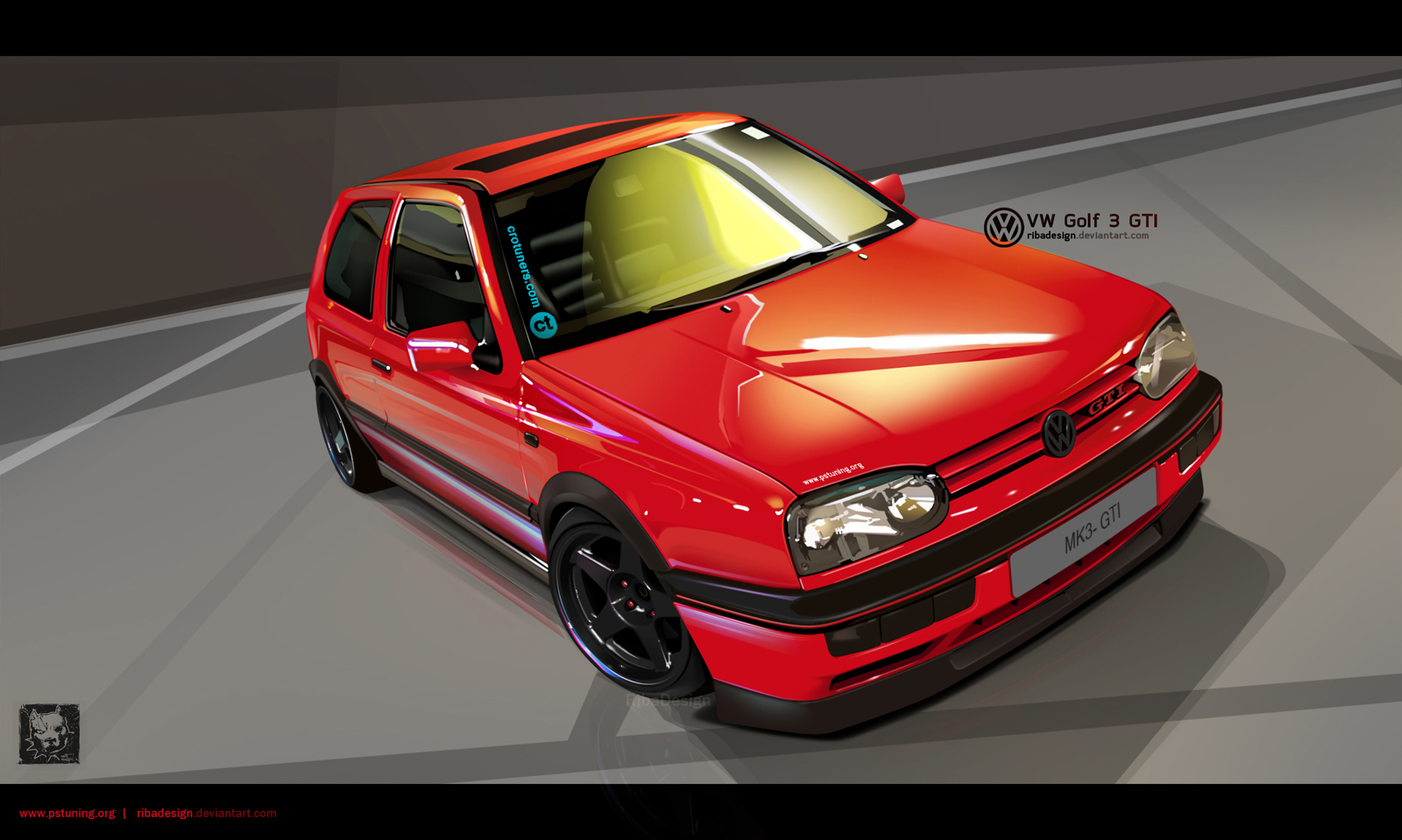 VW Golf MK3 GTI vexel by RibaDesign
