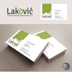 LAKOVIC logo and bussines card by RibaDesign