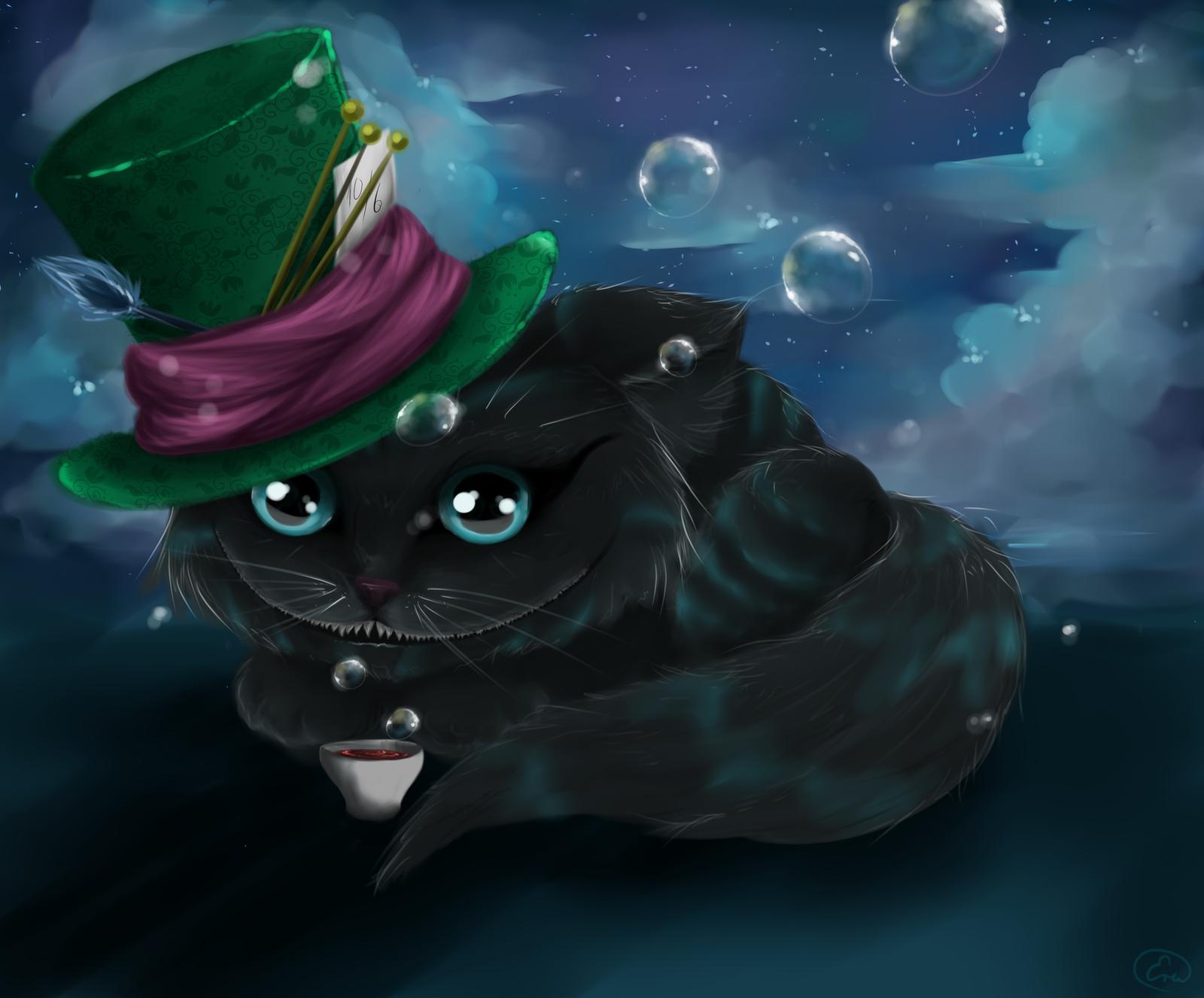 Cheshire cat by MidnightArtDragon