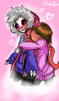 Long time no hug! Pyro and Frisk