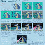 Sea monster tutorial - digital colouring by giantdragon