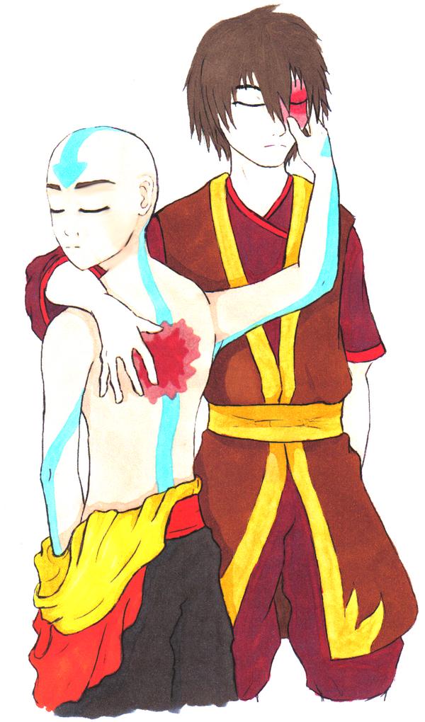Zukaang again by Emptygoldeyes on DeviantArt Zuko And Aang Yaoi