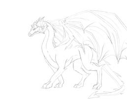 dragon lineart by iloveeagles