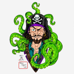 Pirate vs Squid of Cthulhu by CDL113