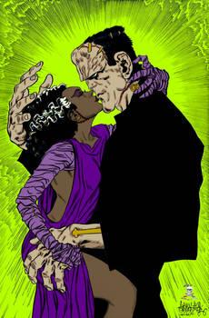 Frankenstein Monsters Kiss