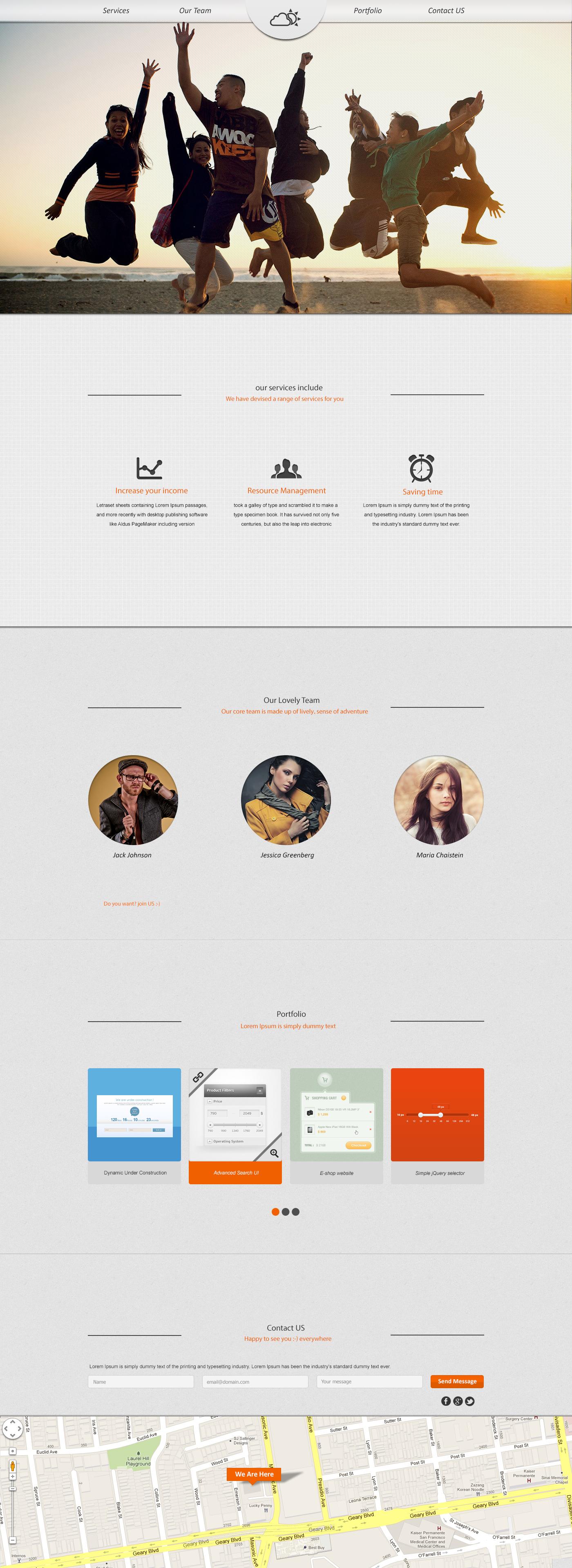 Onepage portfolio by ajoudanian