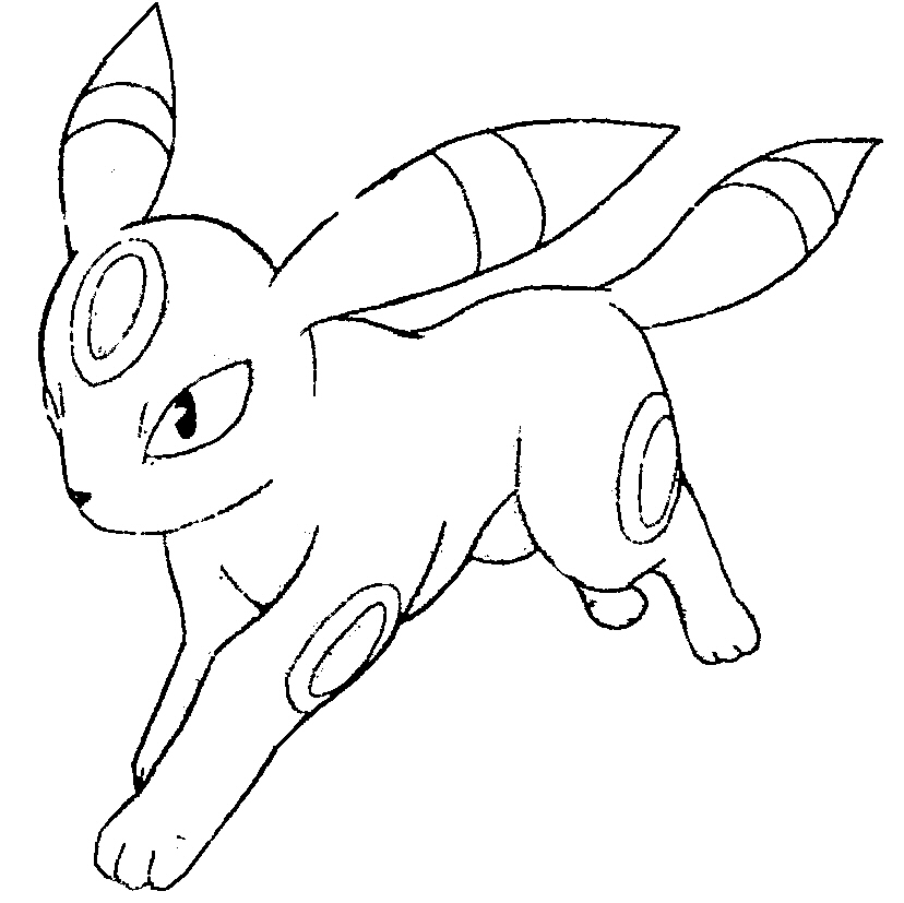 Pokemon umbreon by anglethewolf on deviantart for Pokemon eevee coloring pages