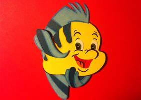 Flounder Paper Cutout by jcsunshinee