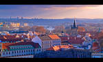 Overlooking Prague by KeldBach