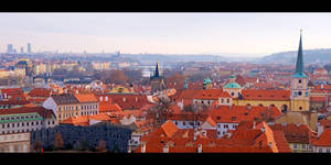 Red Roofs of Prague by KeldBach