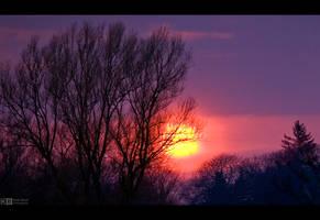 Misty Sunset by KeldBach
