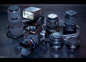 Olympus Photo Gear on Display by KeldBach
