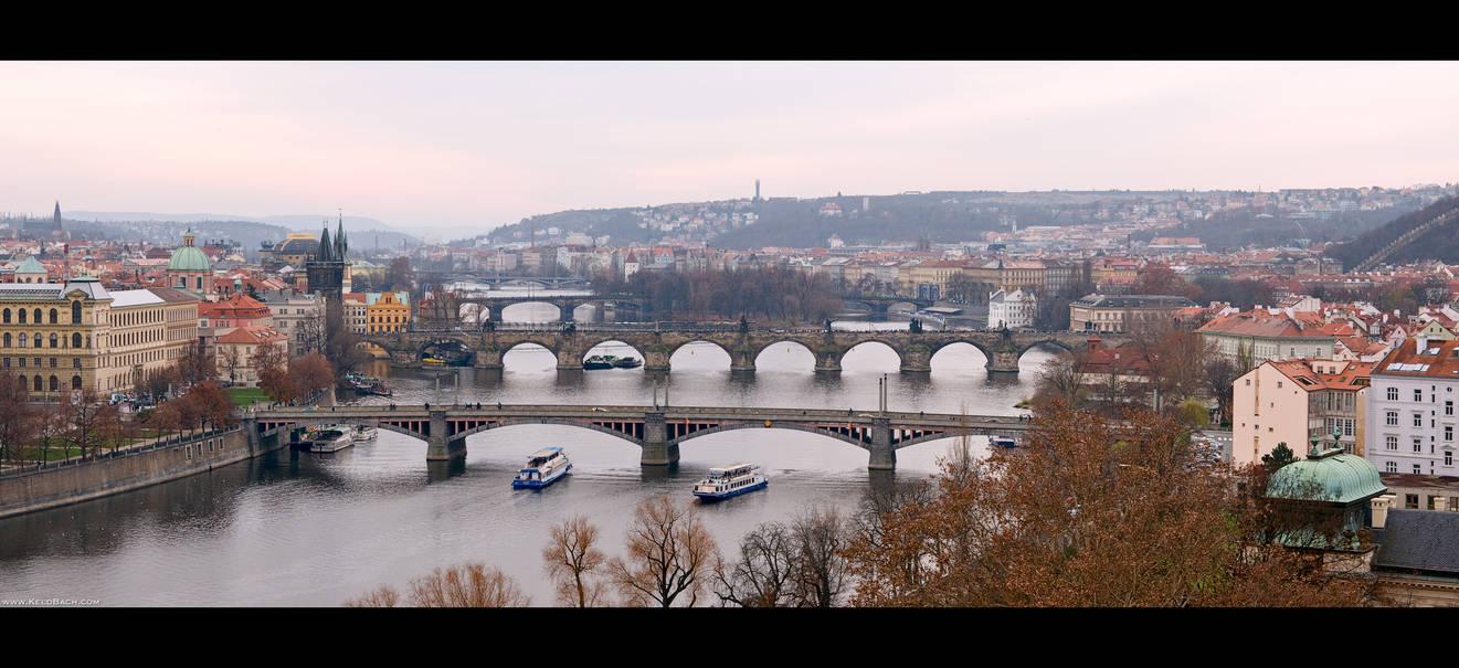 Bridges Across the Vltava by KeldBach