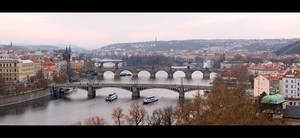 Bridges Across the Vltava by KeldBach