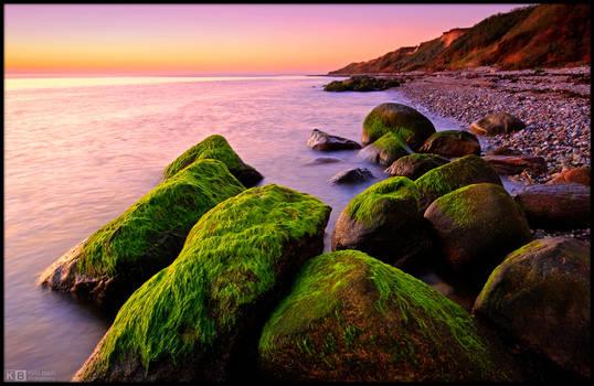 Mossy Rocks Sunset