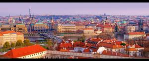Panoramic View of Prague 2