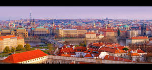 Panoramic View of Prague 2 by KeldBach