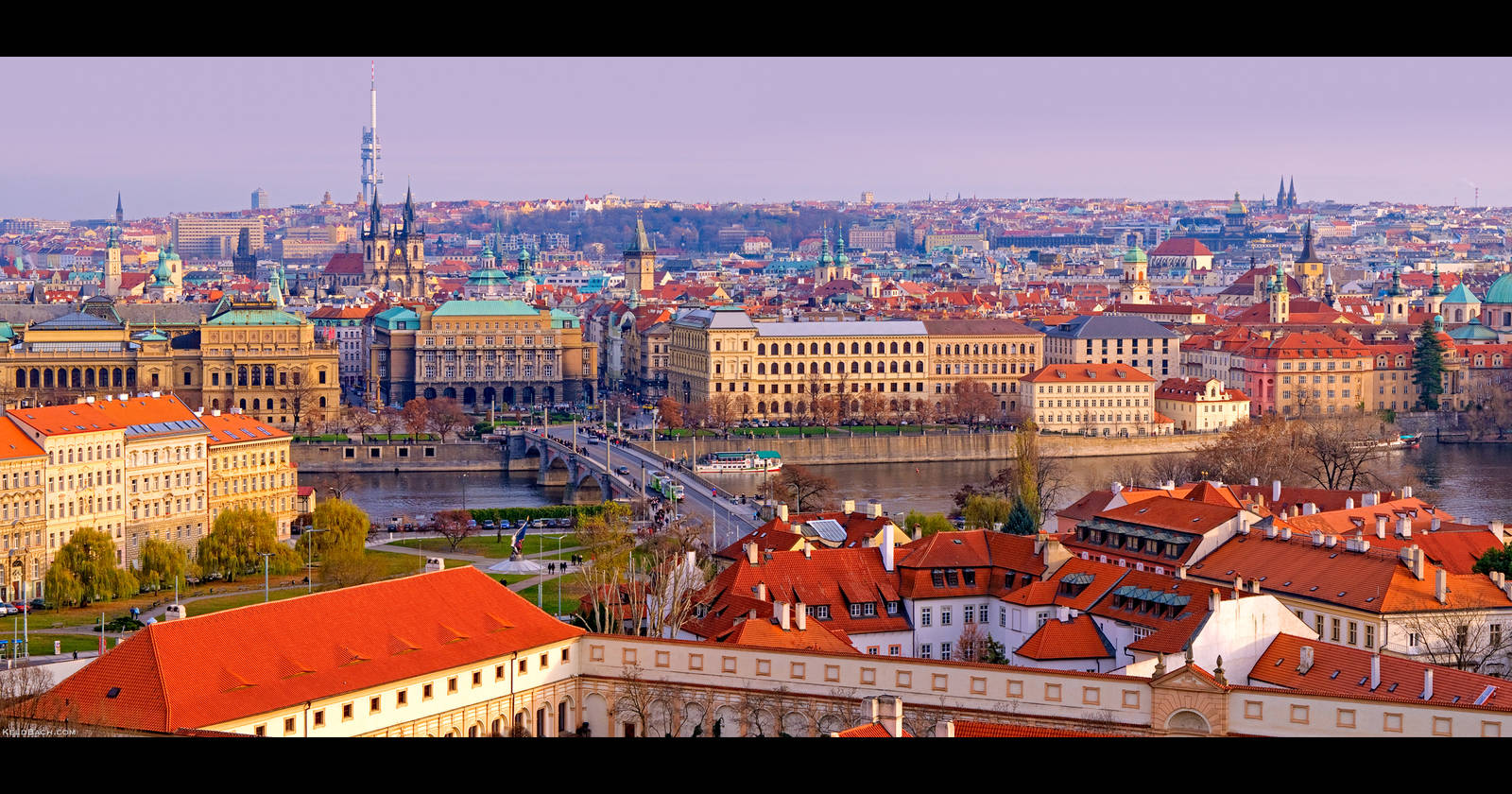 Panoramic View of Prague by KeldBach