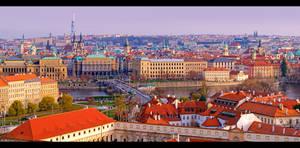 Panoramic View of Prague