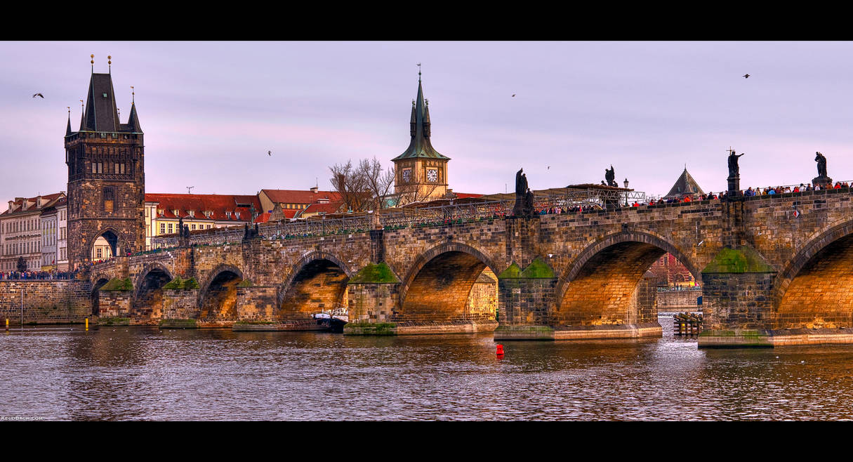 Charles Bridge Pano by KeldBach