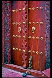 Wood Carvings at Lamu by KeldBach