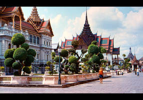 Royal Grand Palace, Bangkok by KeldBach
