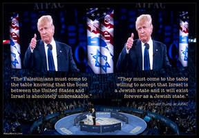 Trump Taking the Oath at AIPAC by KeldBach
